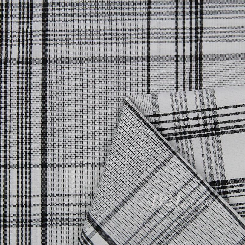 格子 涤棉 棉感 色织 平纹 外套 衬衫 上衣 70622-80