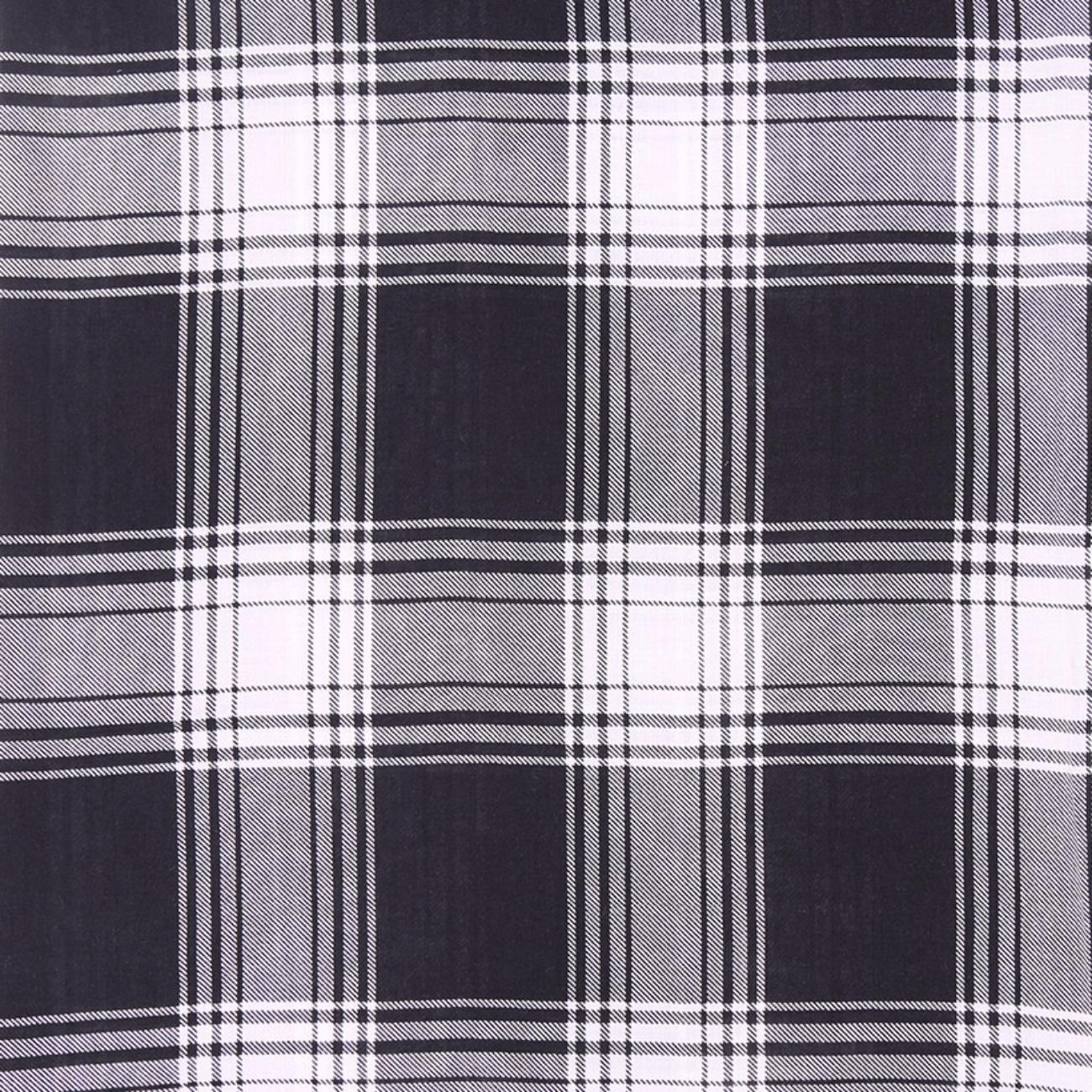 人棉期货格子梭织印花无弹衬衫连衣裙 短裙 薄 棉感 70522-31