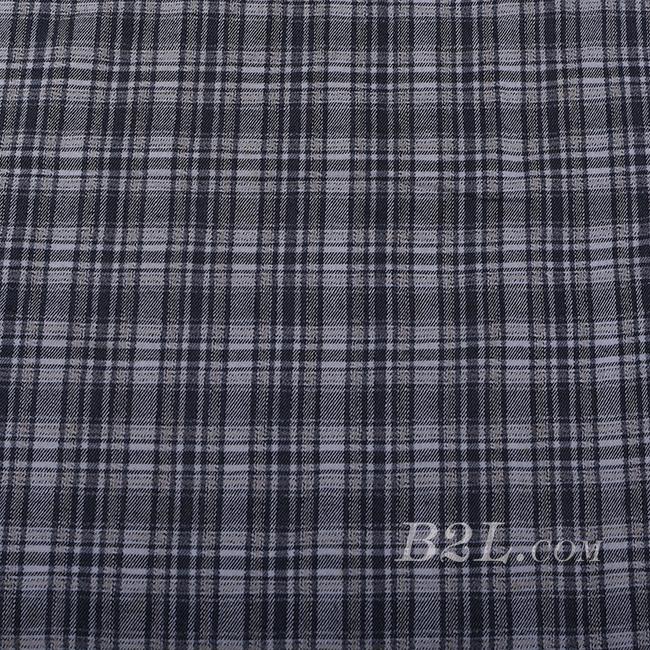 梭织 格子 棉感 色织 斜纹 无弹 外套 衬衫 大衣 裤子 60620-13