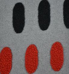 毛纺 针织 大衣 提花拉毛 粗纺圆点 圆机 外套加厚绒感 60803-32