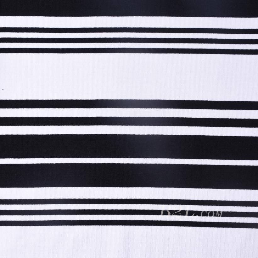 坑条 条子 横条 圆机 针织 纬编 T恤 针织衫 连衣裙 定位 棉感弹力 60311-21