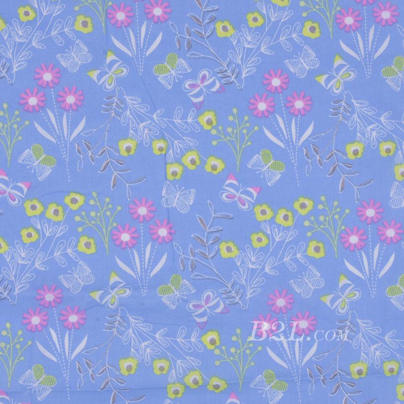 期货 印花 全棉 梭织 花朵 低弹 薄 巴厘纱 连衣裙 寸衫 女装 童装 80302-59