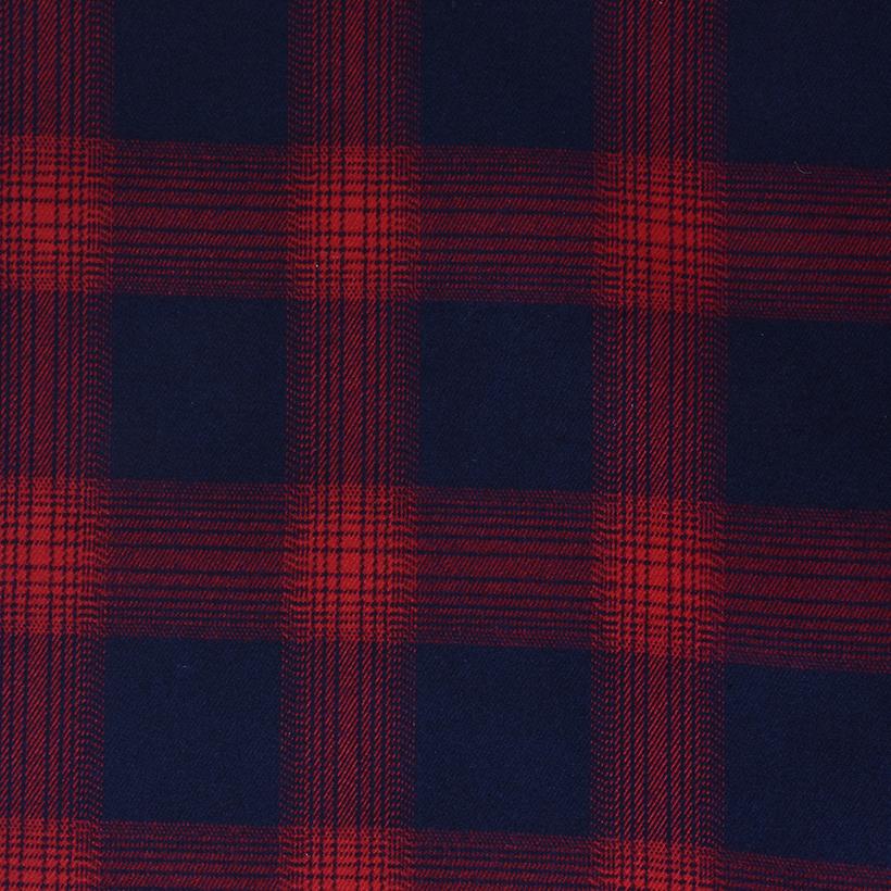 斜纹 格子 梭织 色织 无弹 衬衫 外套 连衣裙 柔软 细腻 棉感 男装 女装 春秋70410-83