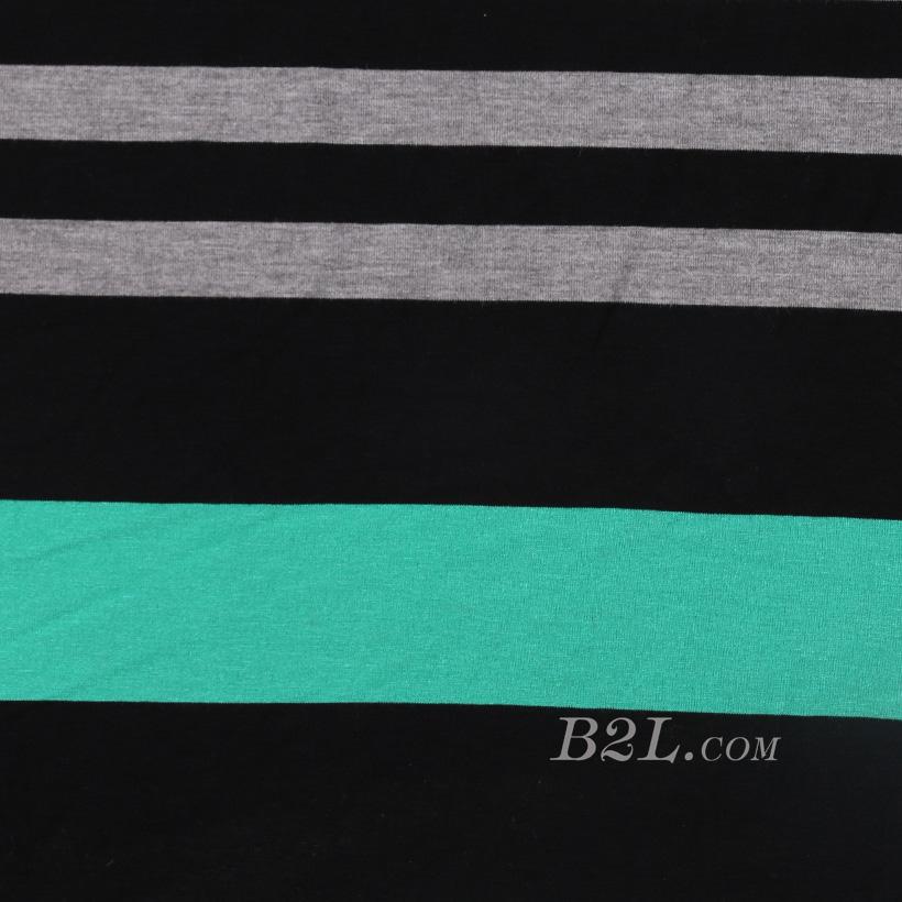 条子 横条 圆机 针织 纬编 T恤 针织衫 连衣裙 棉感 弹力 定位 60312-70