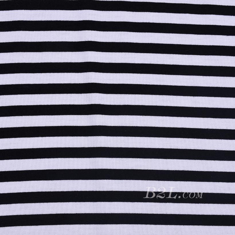 条子 横条 圆机 针织 纬编 T恤 针织衫 连衣裙 棉感 弹力 60312-169