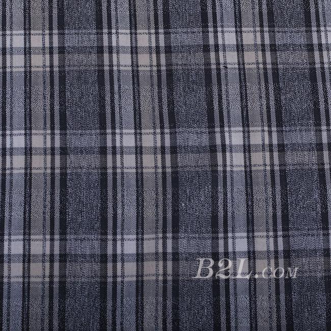 格子 棉感 色织 无弹 外套 短裙 连衣裙 60620-3