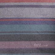 条纹 呢料 柔软 羊毛 大衣 外套 女装 70821-1
