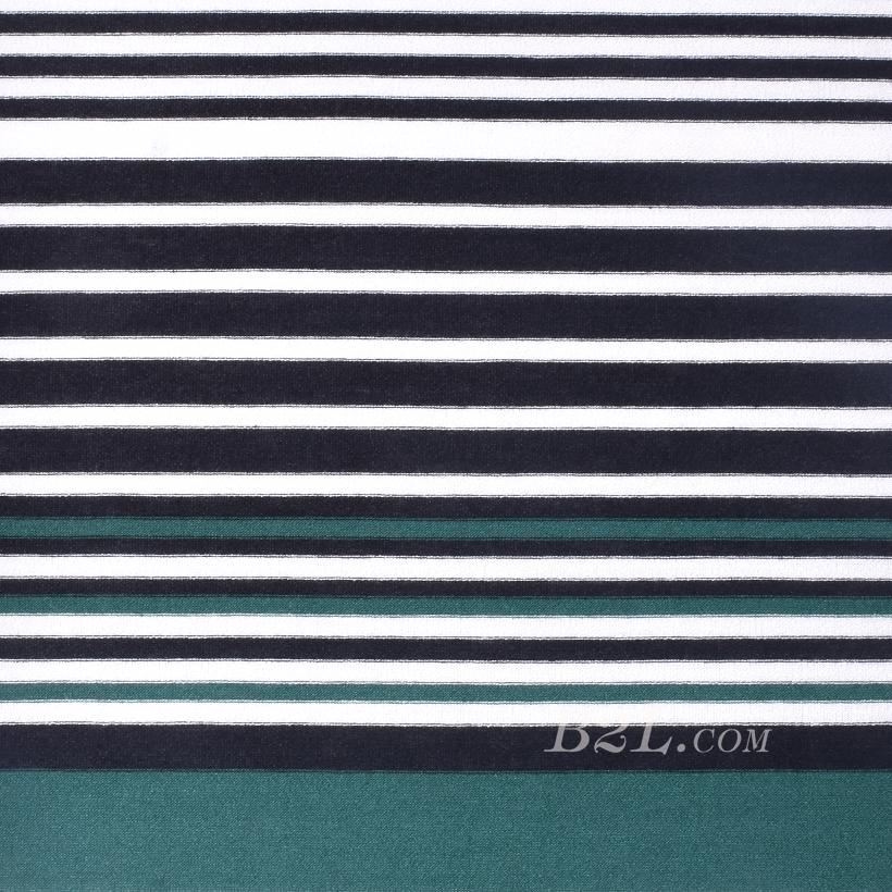 现货 条子 横条 圆机 针织 纬编 T恤 针织衫 连衣裙 棉感 弹力 定位 60312-193