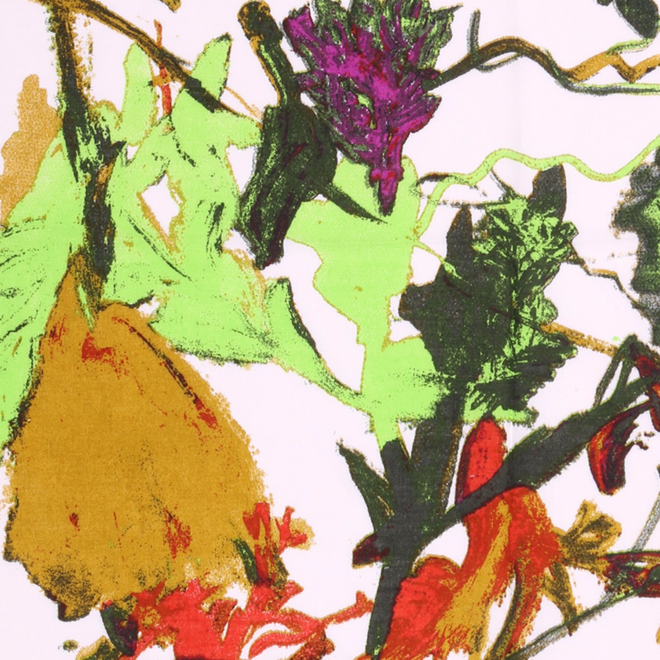 人棉期货抽象花朵梭织印花无弹衬衫连衣裙 短裙 薄 棉感 70522-53