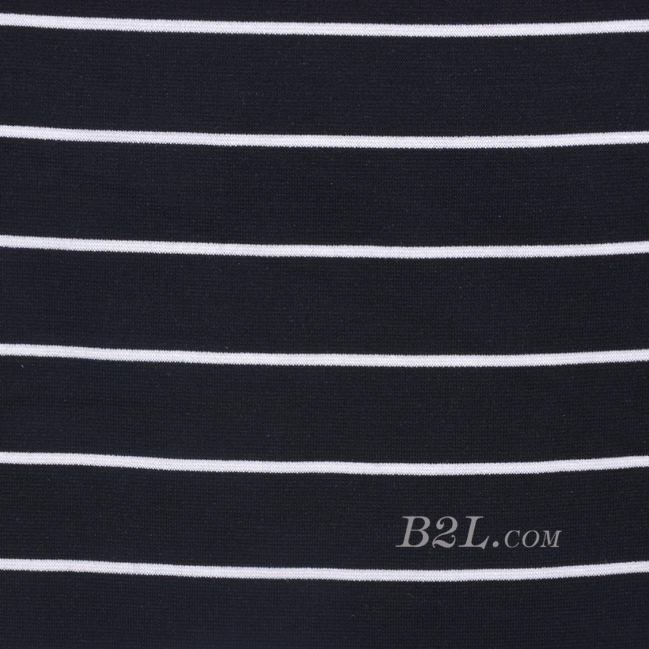 条子 横条 圆机 针织 纬编 棉感 弹力 T恤 针织衫 连衣裙 80131-5