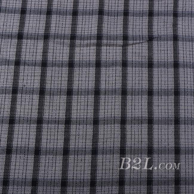 格子 棉感 色织 斜纹 无弹 外套 衬衫 大衣 裤子 60620-16