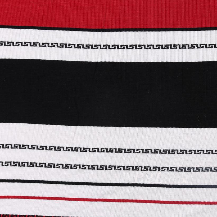 条子 横条 圆机 针织 纬编 T恤 针织衫 连衣裙 棉感 弹力 定位 罗纹60312-62