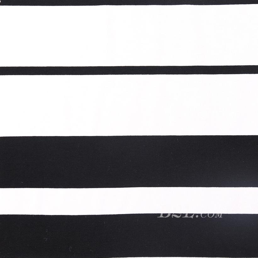 条子 横条 圆机 针织 纬编 T恤 针织衫 连衣裙 棉感 弹力 定位 60312-111