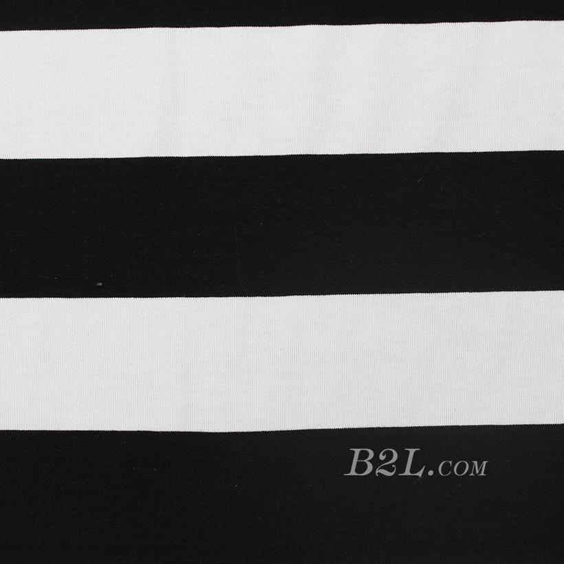 条子 横条 圆机 针织 纬编 T恤 针织衫 连衣裙 棉感 弹力 60312-116