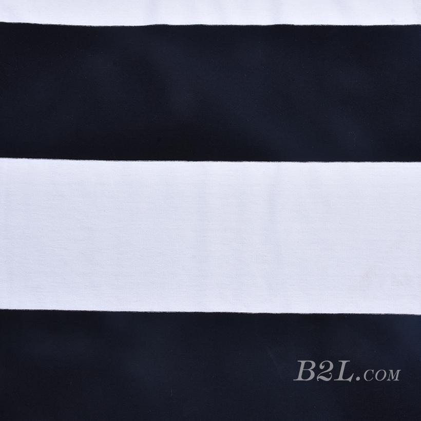 条子 横条 圆机 针织 纬编 T恤 针织衫 连衣裙 棉感 弹力 60312-178