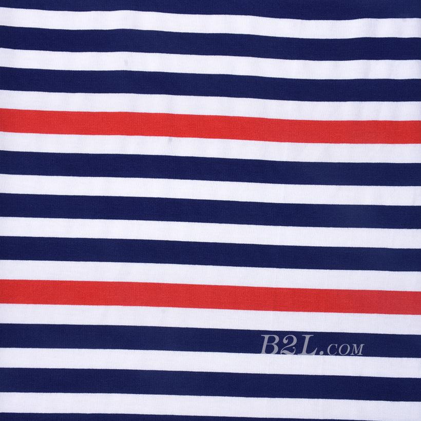 条子 横条 圆机 针织 纬编 T恤 针织衫 连衣裙 棉感 弹力 60312-166