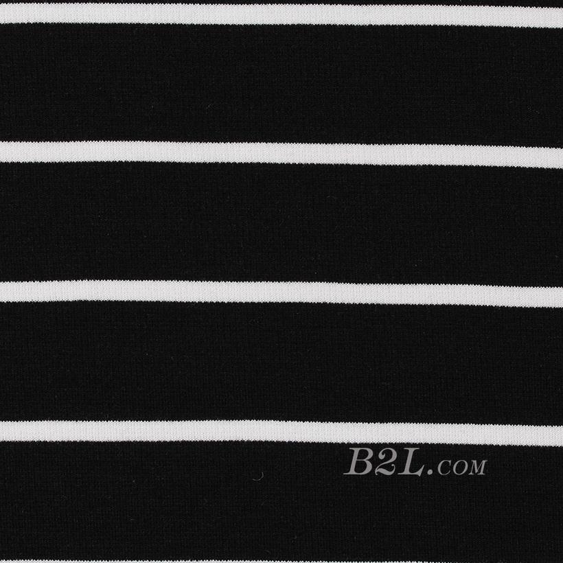 条子 横条 圆机 针织 纬编 T恤 针织衫 连衣裙 棉感 弹力 罗纹60312-12