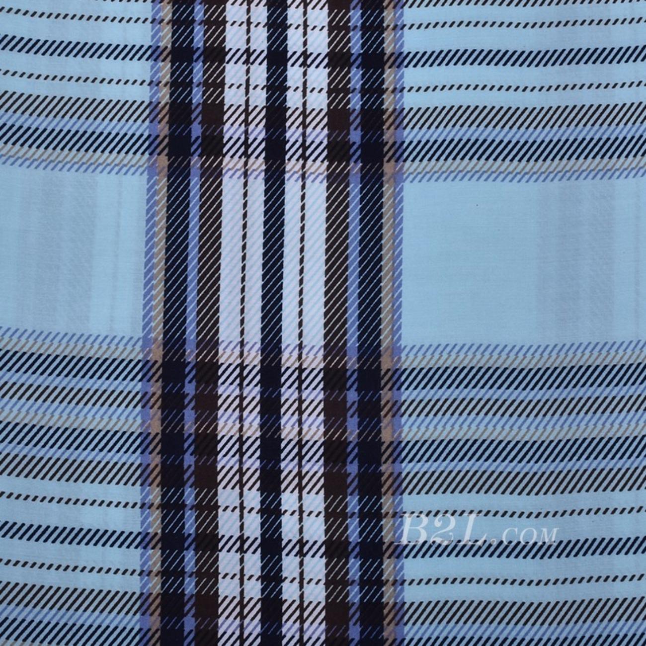 人棉期货格子梭织印花无弹衬衫连衣裙 短裙 薄 棉感 70531-41