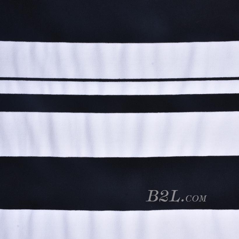 条子 横条 圆机 针织 纬编 T恤 针织衫 连衣裙 棉感 弹力 定位 60312-65