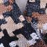 千鸟格 毛呢 粗纺 梭织 色织 提花 无弹 外套 西装 短裤 柔软 粗糙 绒感 女装 冬 70820-12