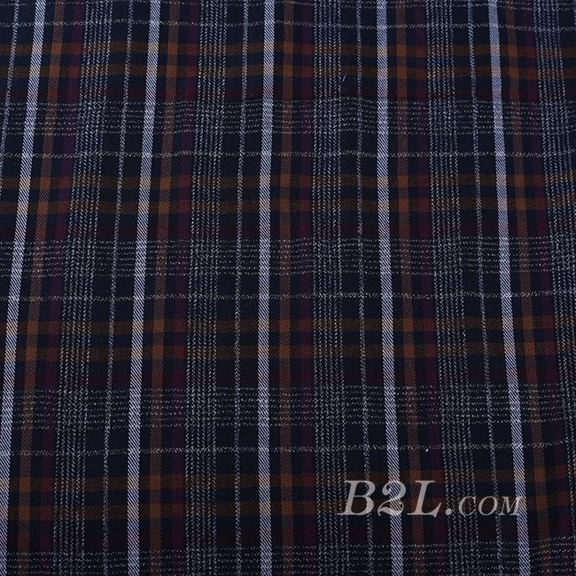 梭织 格子 棉感 色织 斜纹 无弹 外套 衬衫 大衣 裤子 60620-11