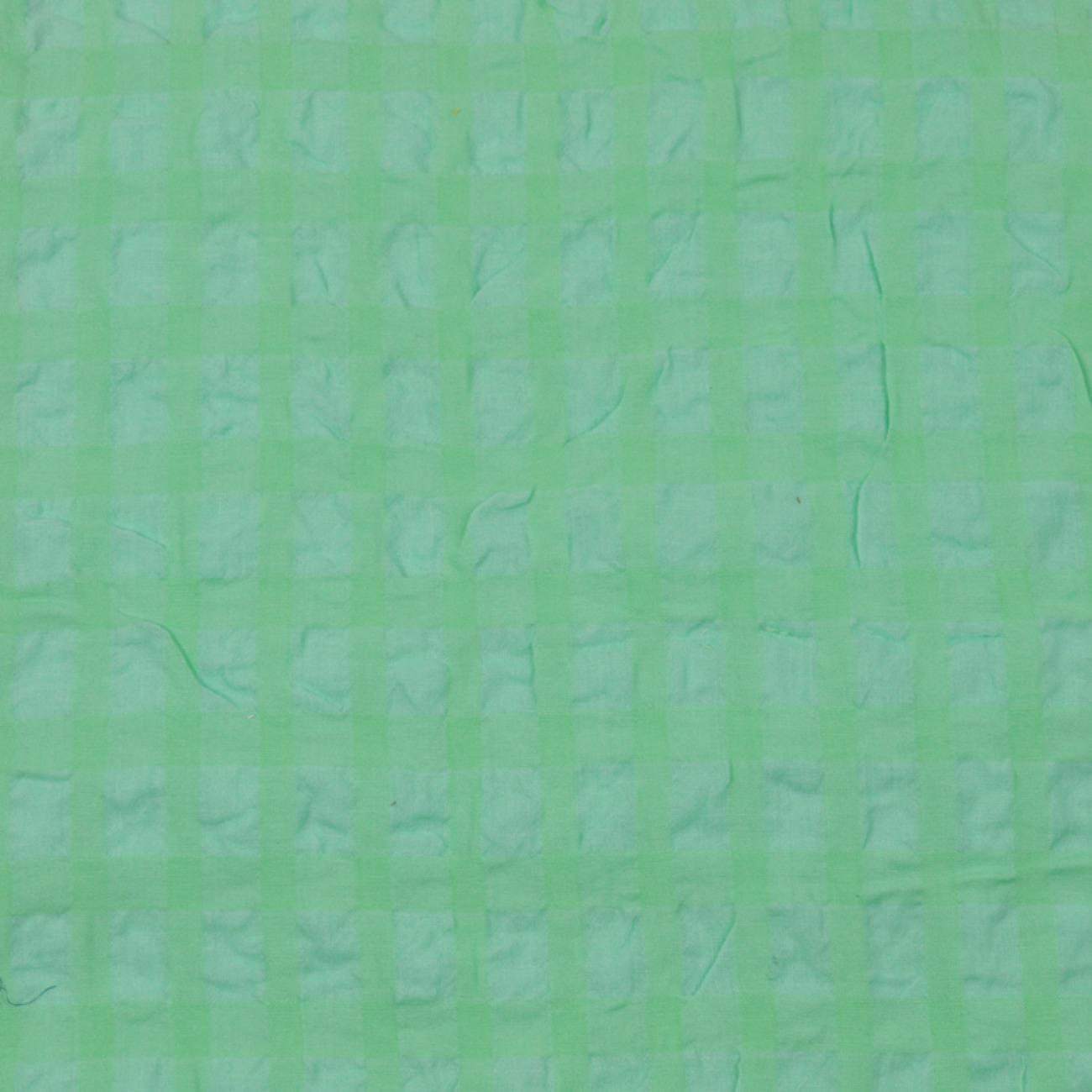 现货格子梭织色织无弹休闲时尚风格衬衫连衣裙 短裙 薄 泡泡布 春夏秋60929-73