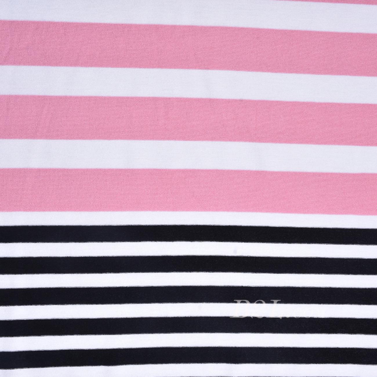 条子 横条圆机 针织 纬编 T恤 针织衫 连衣裙 棉感 弹力 定位 60312-69